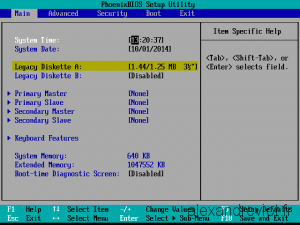 VMWare BIOS Diskette A remove floppy drive