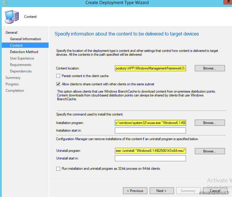 SCCM 2012 - How to deploy a KB using Application - Alexandre