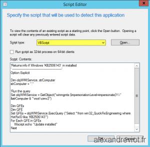 Script detection method