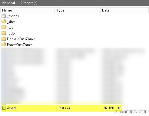 DNS - Remove WPAD Filtering - Alexandre VIOT